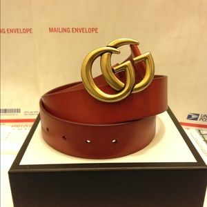 Accessories - Gucci cuir leather gold double g buckle belt